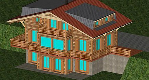 The chalet to be built