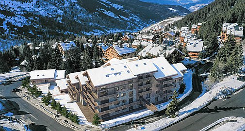 The ski in and out apartments for sale in Meribel