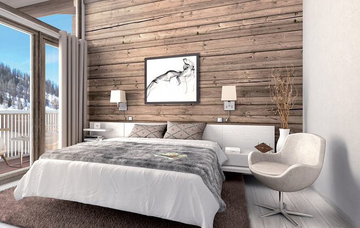 Finished bedrooms in the development