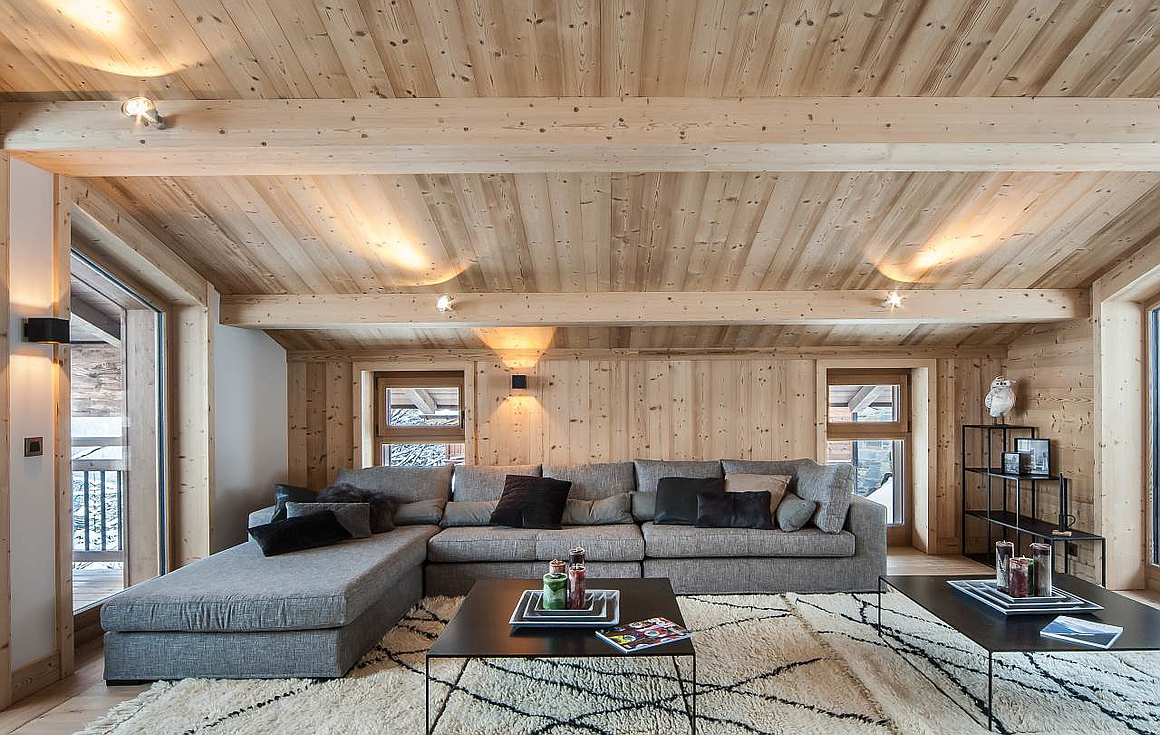 The chalets light and airy interiors