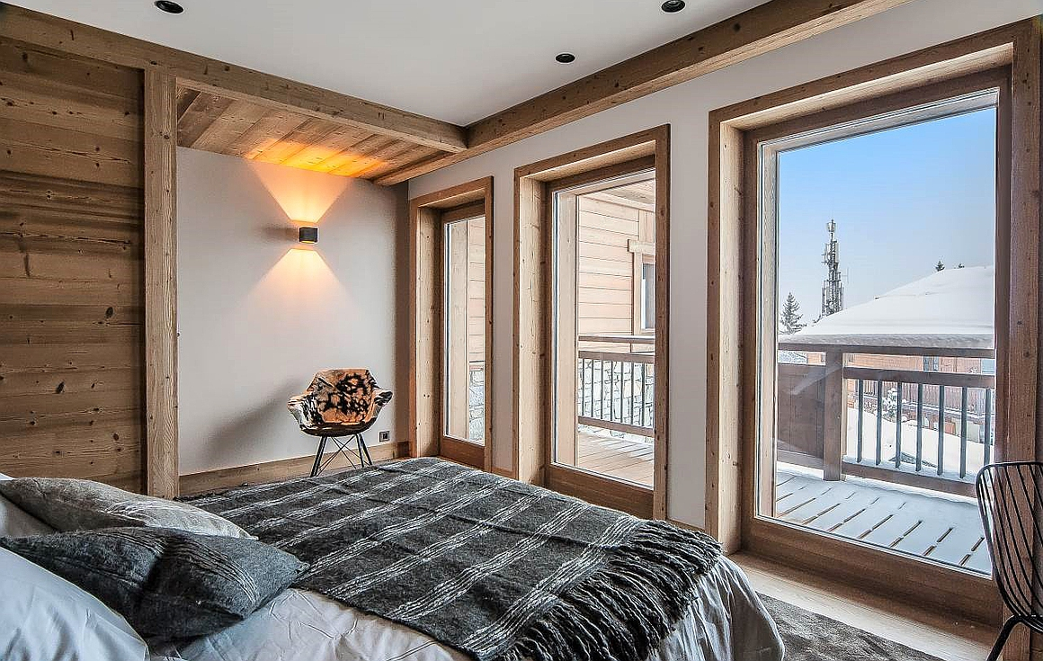 The bedrooms with wonderful views and private terraces