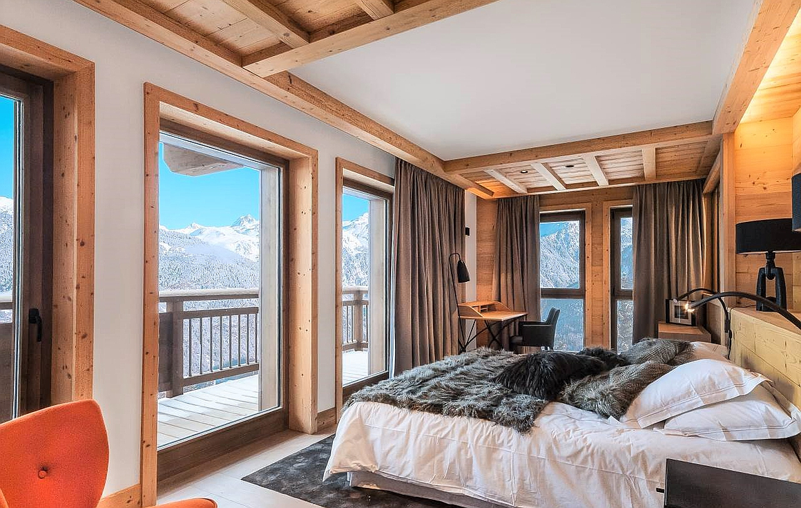 The master suite with stunning views