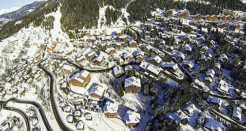 Location of apartments for sale in Meribel