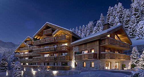 Meribel apartments for sale exterior of building