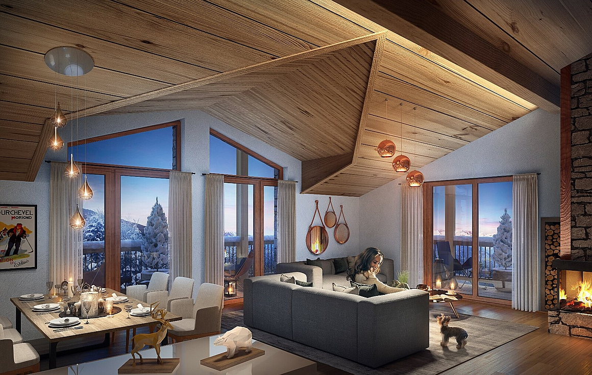 The Courchevel apartments for sale