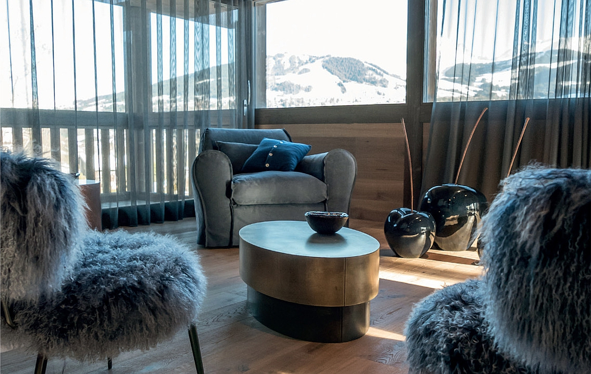 Sitting area with stunning views