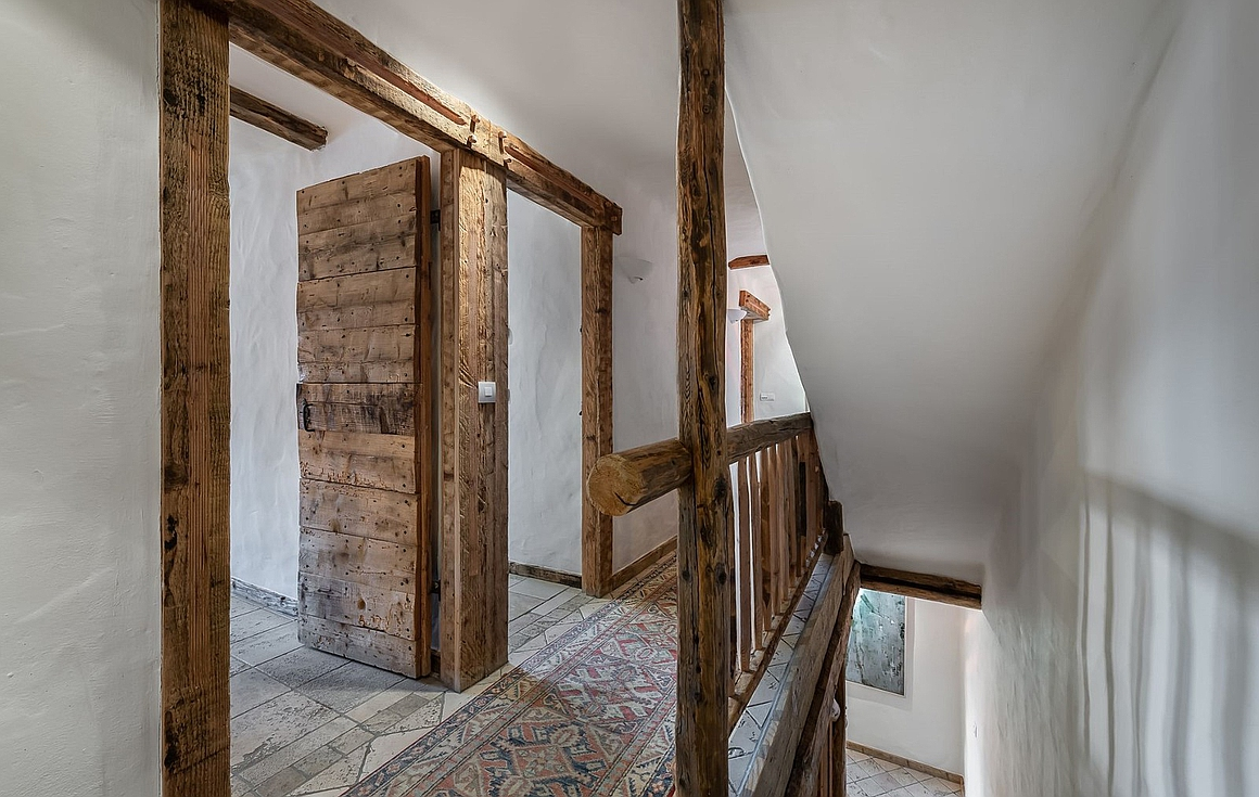 Traditional wood in hallway
