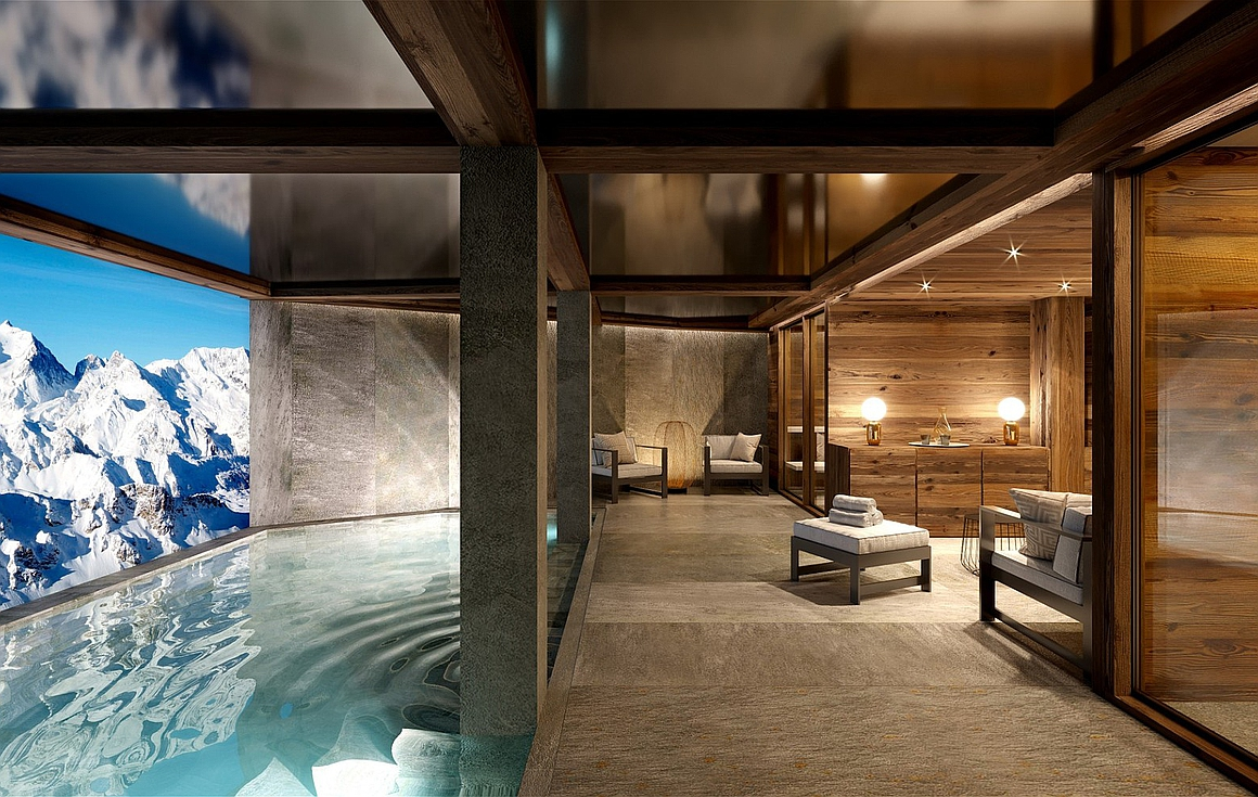 Luxury spa area