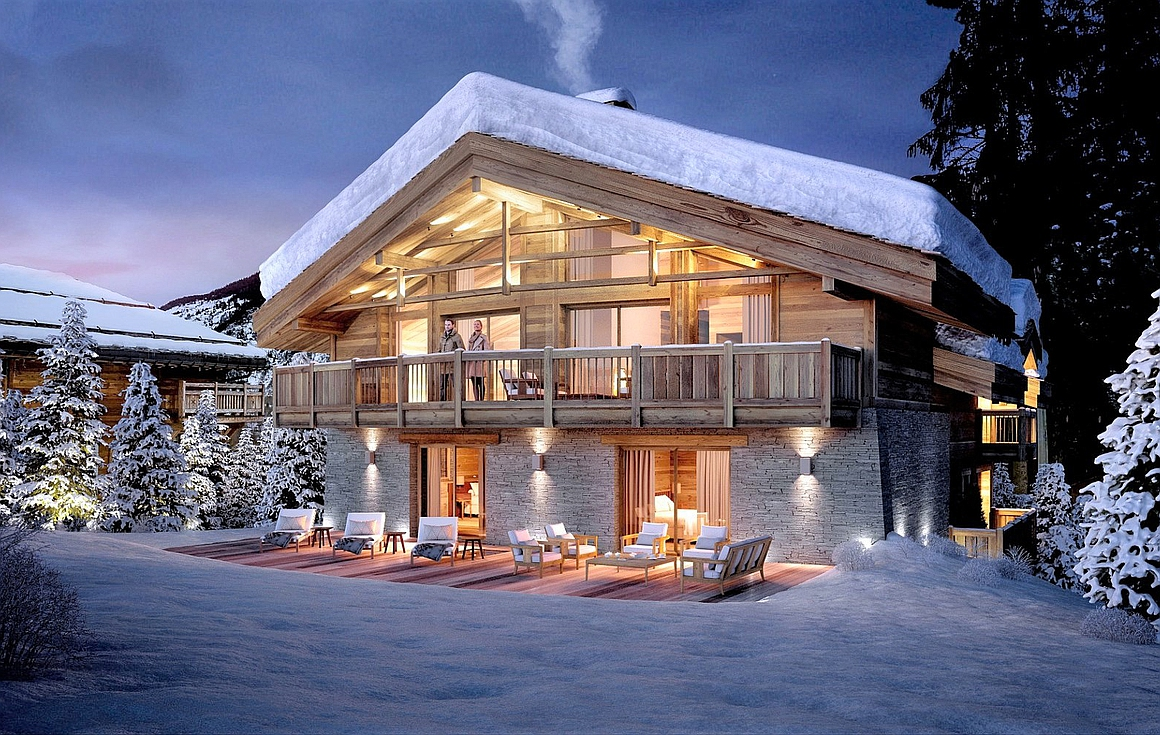 The chalet for sale in Le Praz