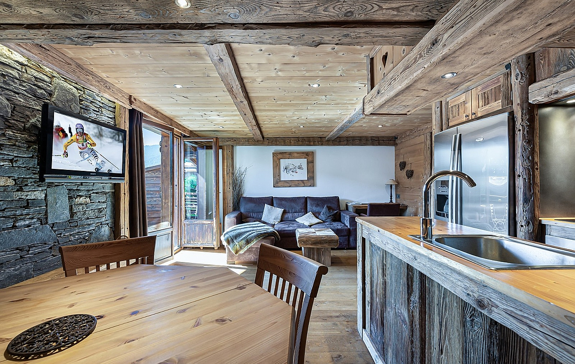 Interior of the apartment for sale in Megeve