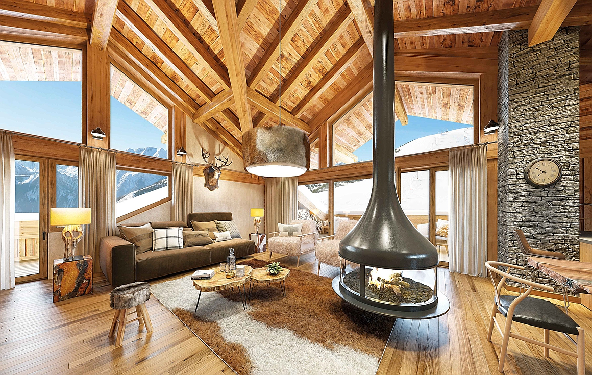 Interior finish example of the Alpe d'Huez property for sale