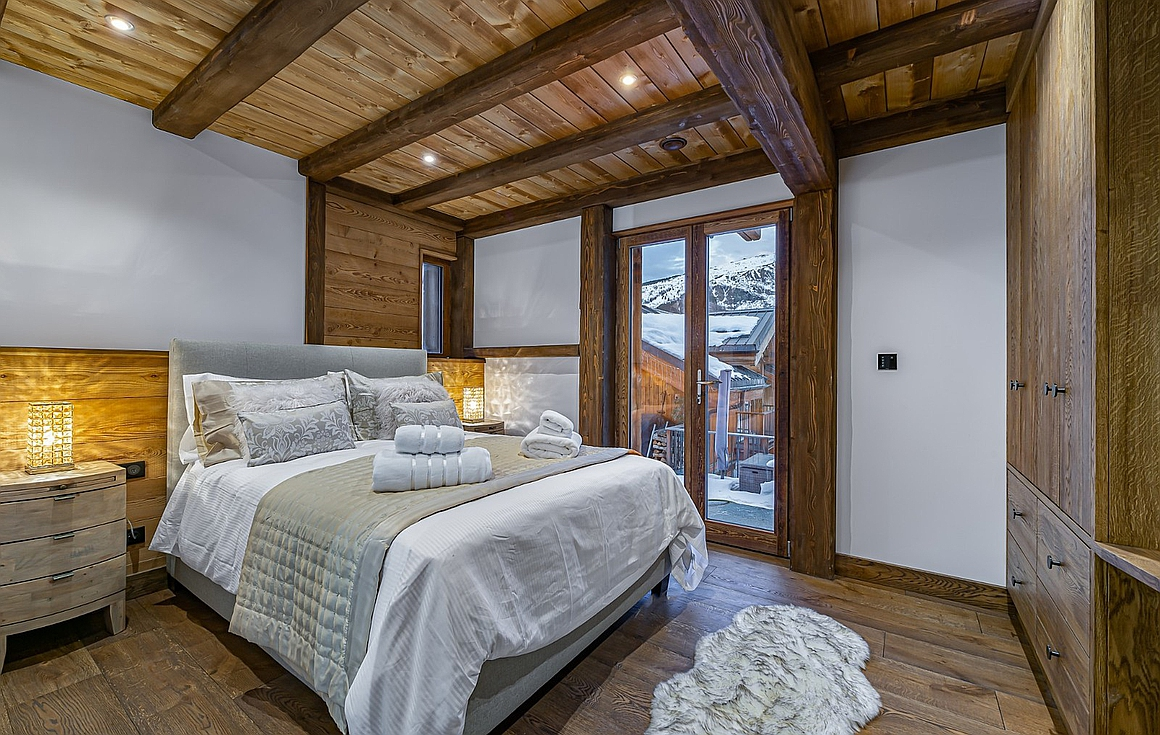 The interior of the chalet