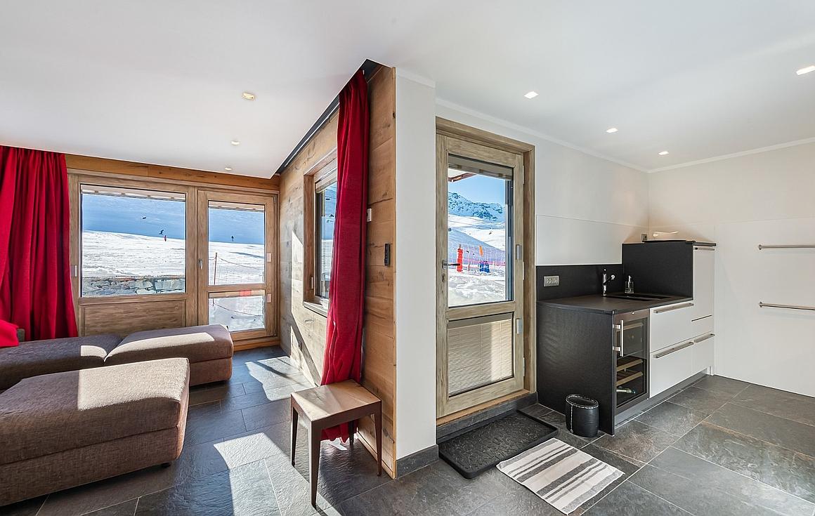 Interior of apartment in Val Thorens