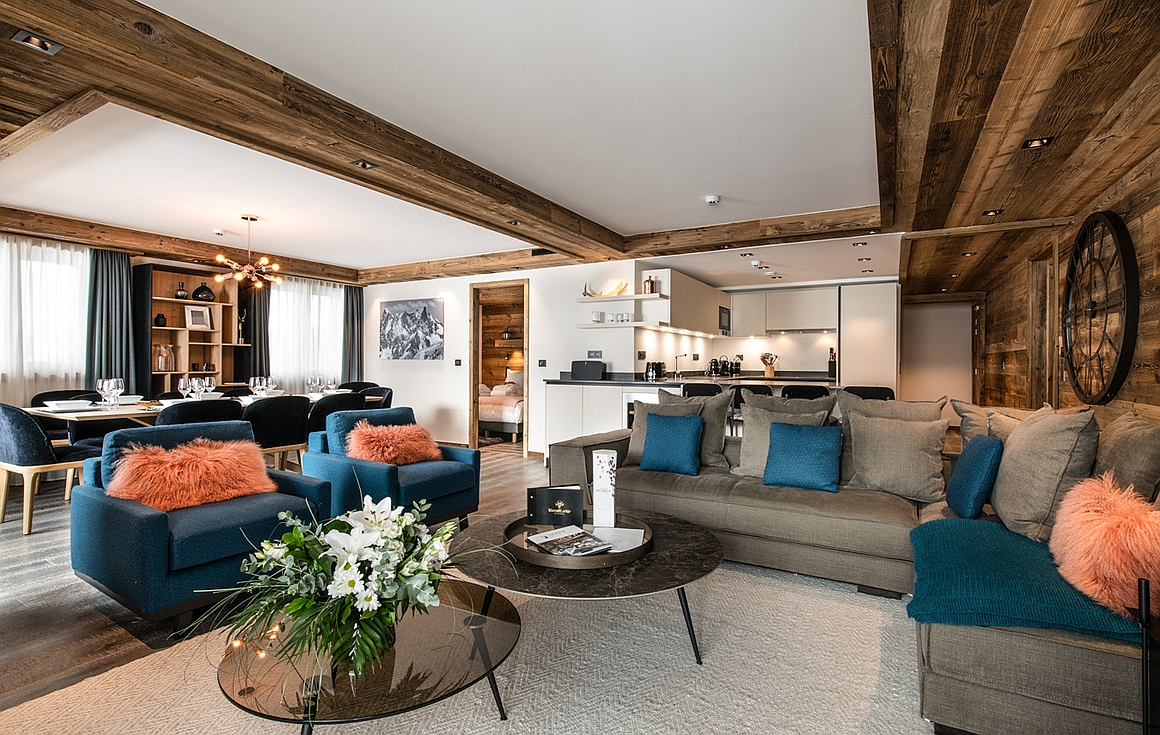 The 4 bedroom ski in and out apartments