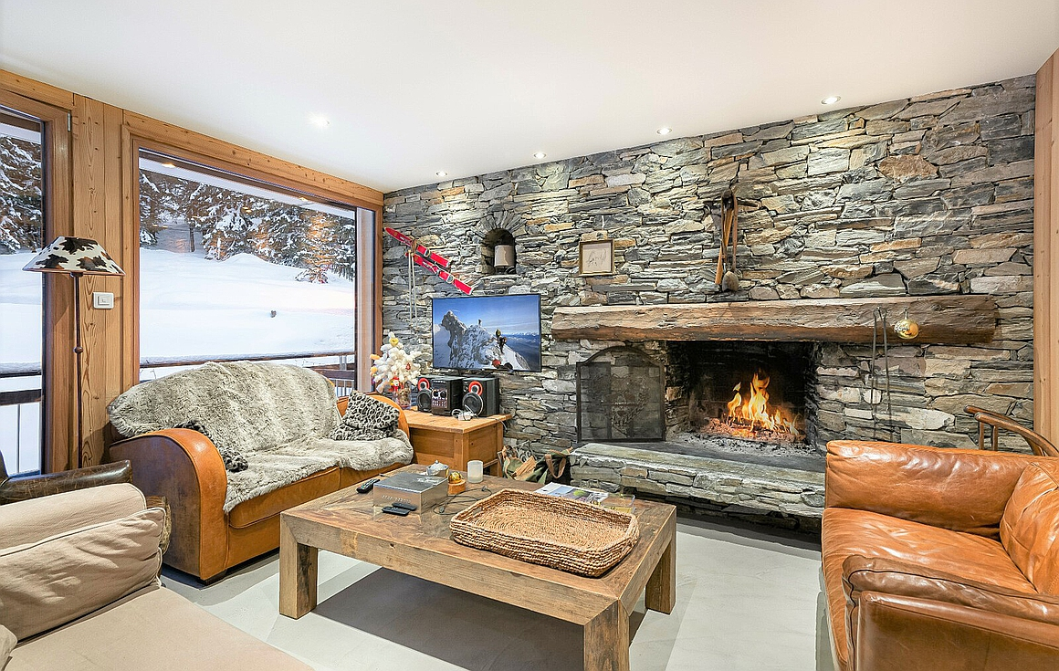 Interior of the apartment for sale in Courchevel