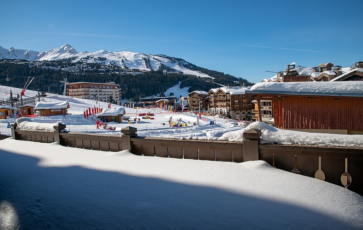 The 5 bedroom ski in and out apartments