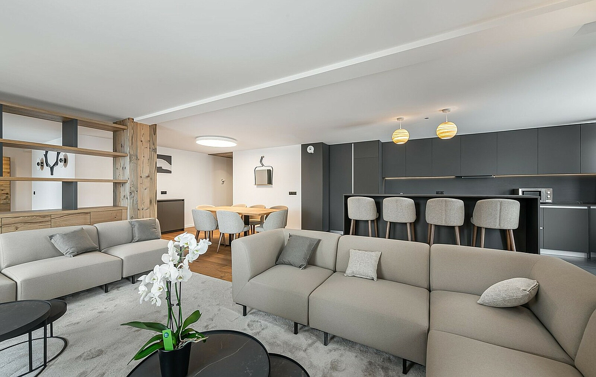 Furnished apartments for sale in Courchevel