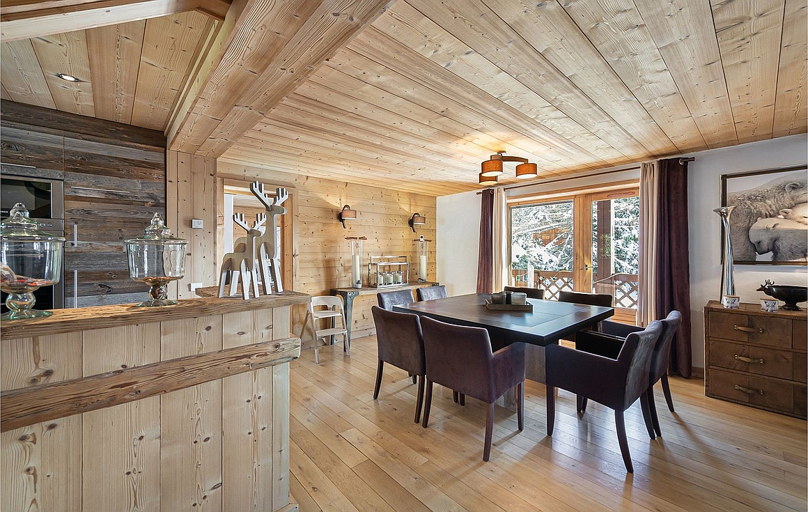 The stunning apartment in Megeve