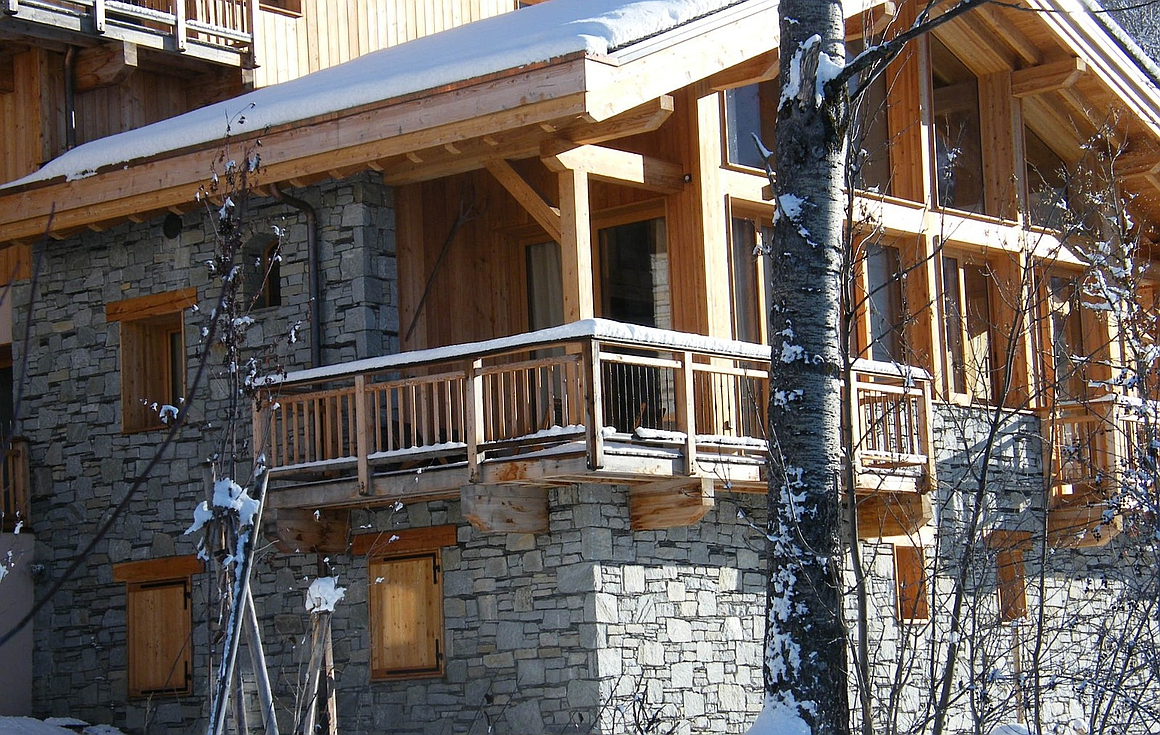 The St Martin de Belleville chalets