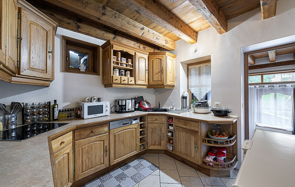 The kitchen of the main apartment
