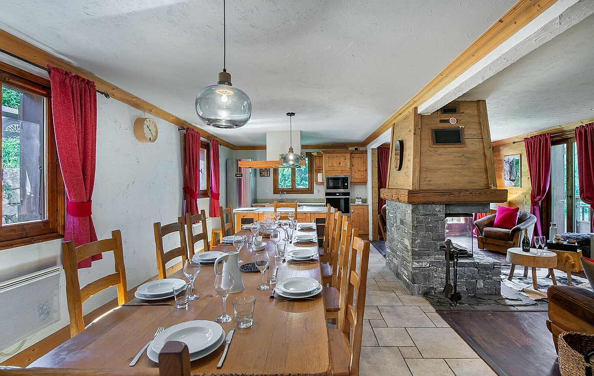 Interior of St Martin de Belleville chalet for sale