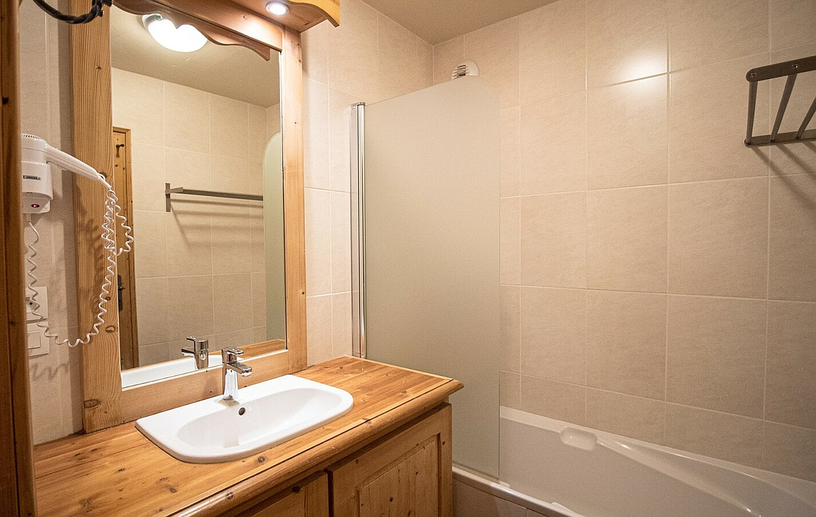 The bathrooms of the apartment in Val Thorens