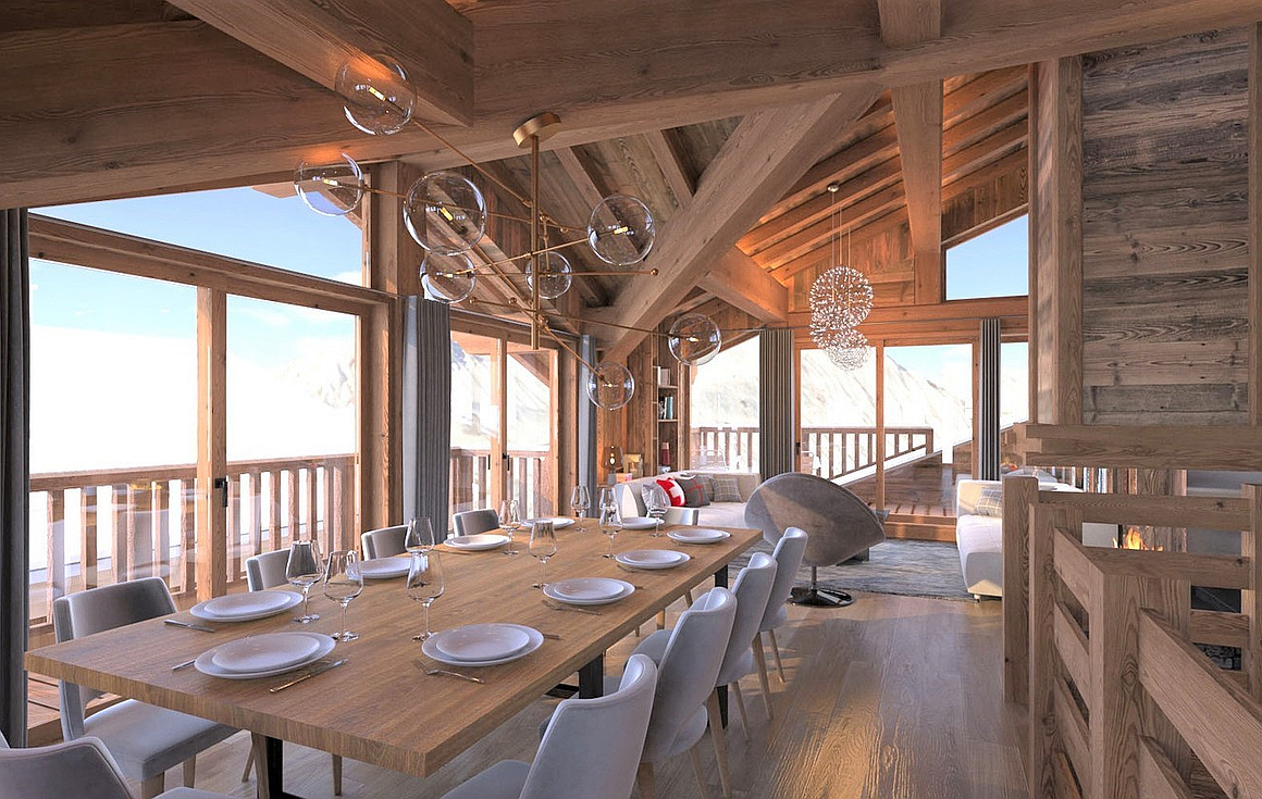 Internal visuals of the chalets
