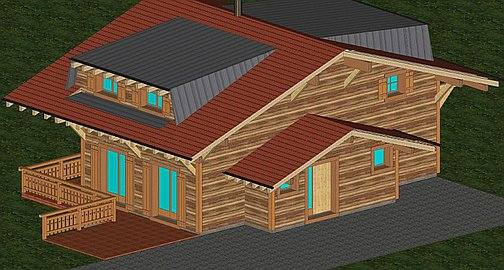 Rear of the chalet to be built
