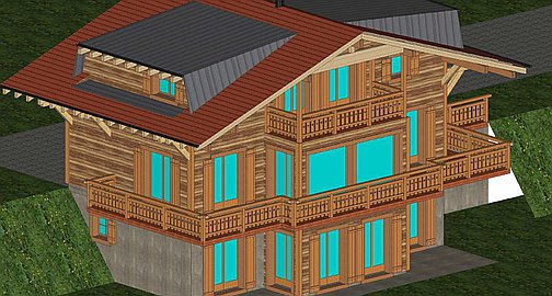 3D Visuals of the chalet to be built