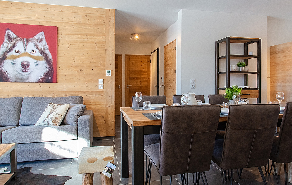 Finished show apartment in the development