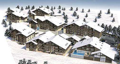 3D Visual of the buildings in Combloux
