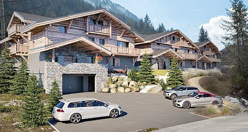 The brand new apartments for sale in Morzine