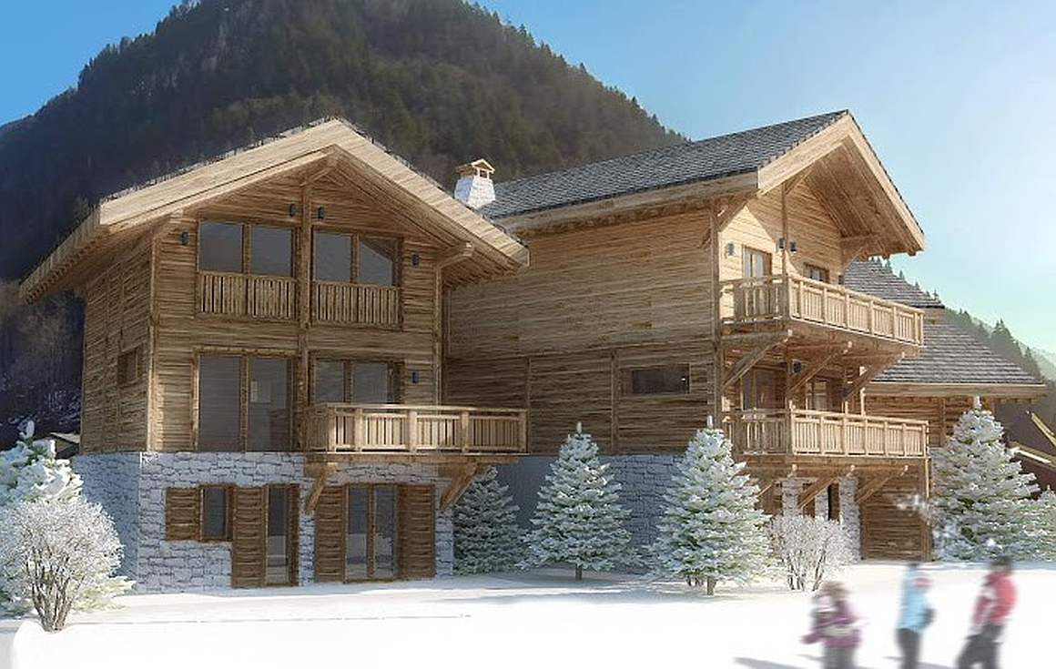 The project of 6 chalets