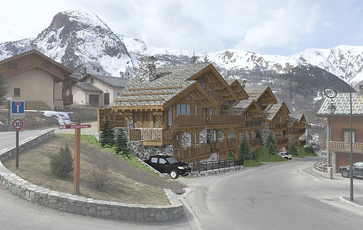The implantation of the luxury chalets for sale