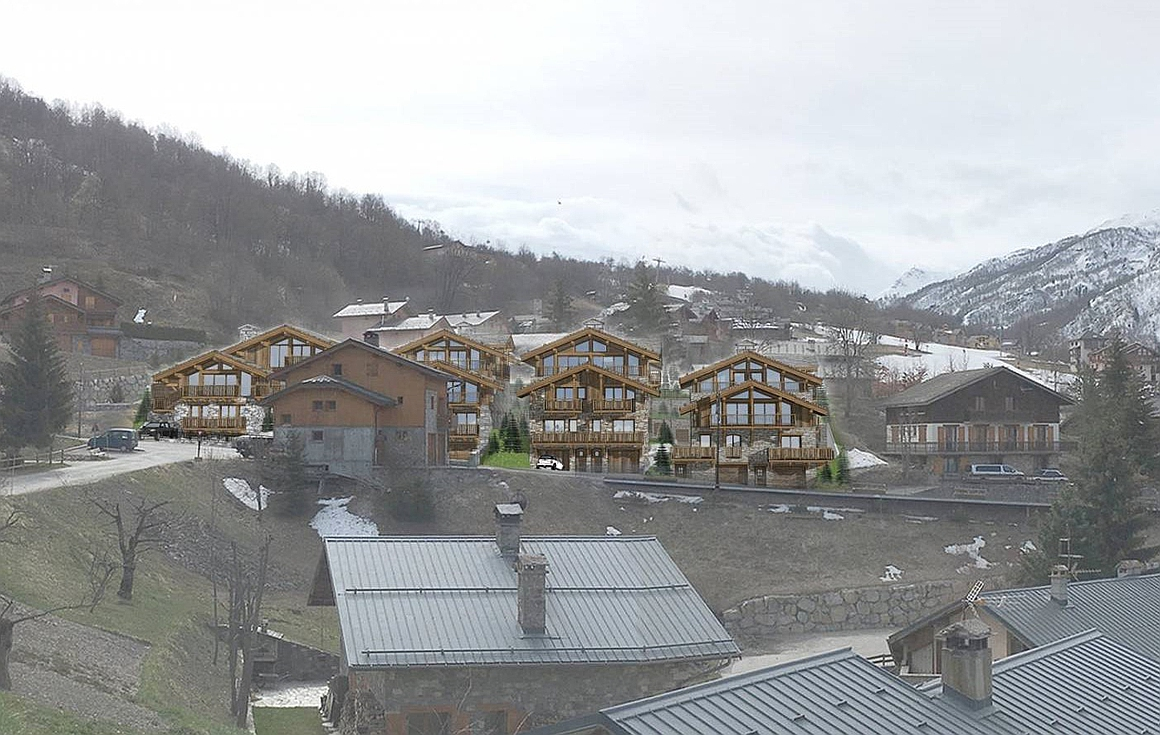 The luxury chalets implantated