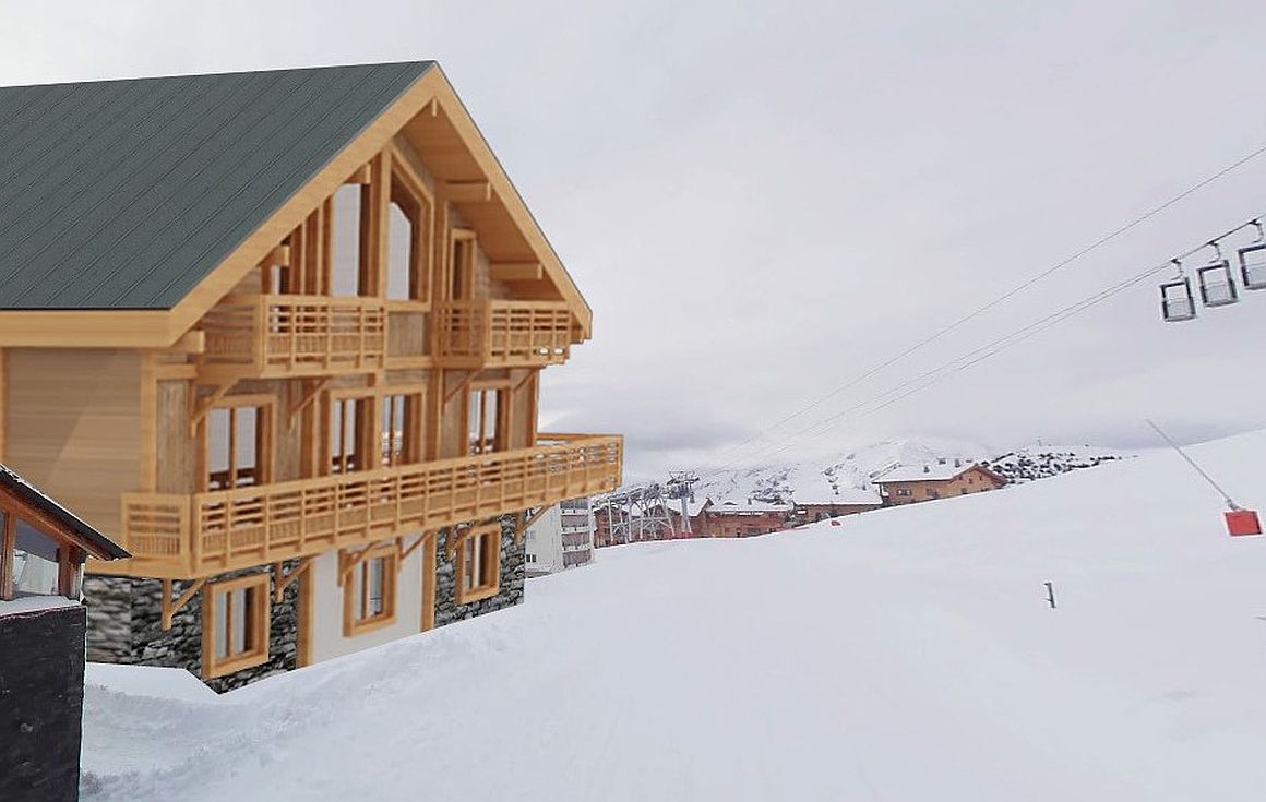 The chalet for sale on the slopes