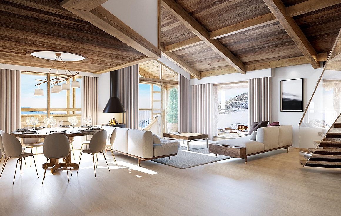 Light and airy interior spaces