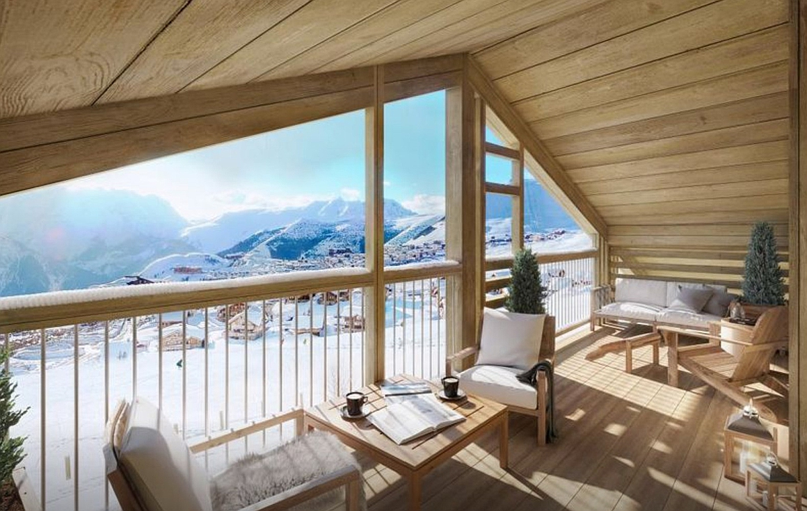 Stunning views from Alpe d'Huez properties for sale