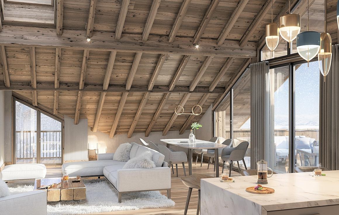 Interiors of Alpe d'Huez apartments for sale