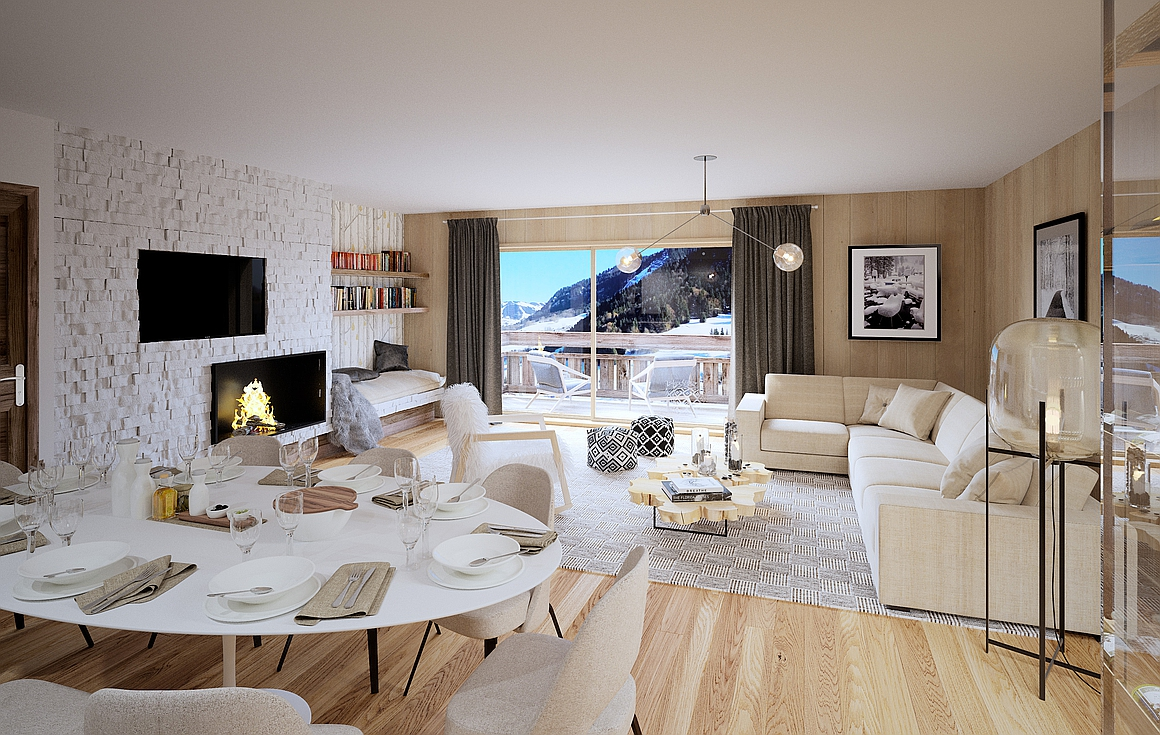 Example apartment living area