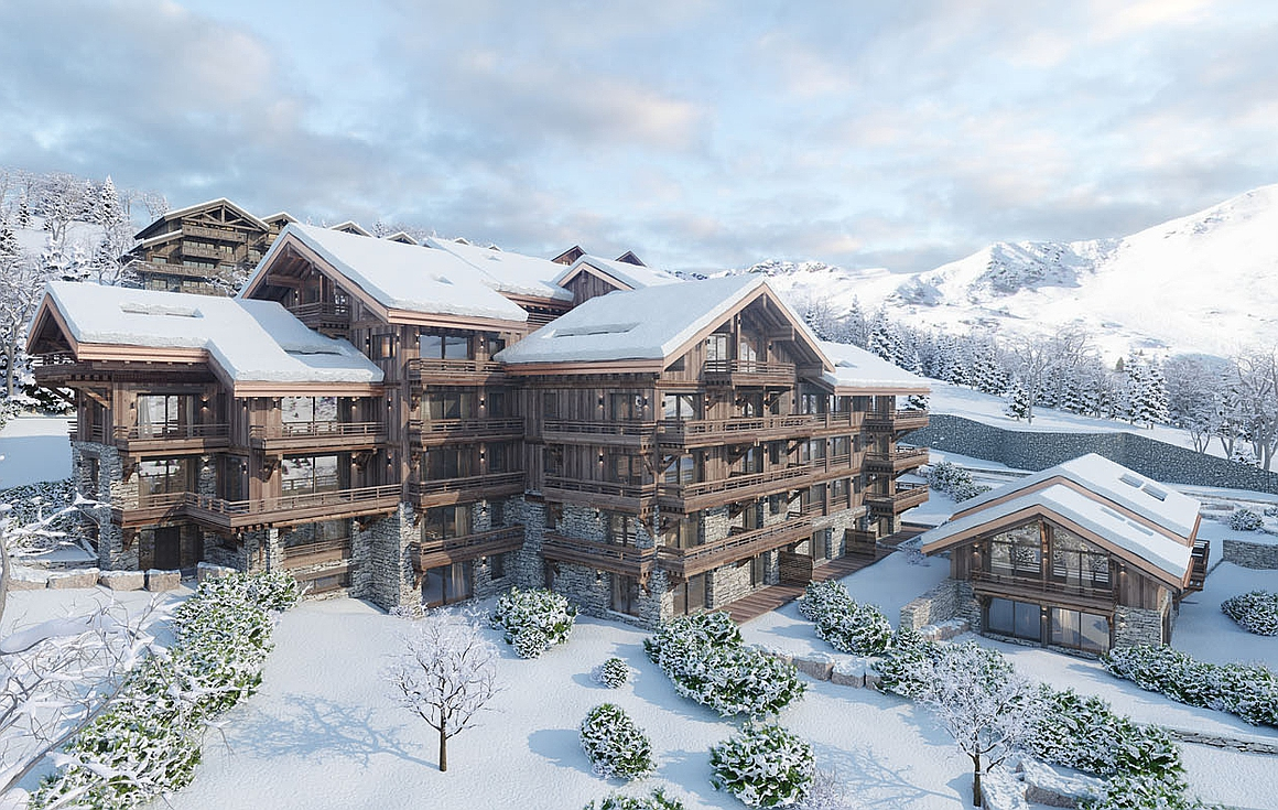 The outstanding ski in and out apartments for sale in Meribel