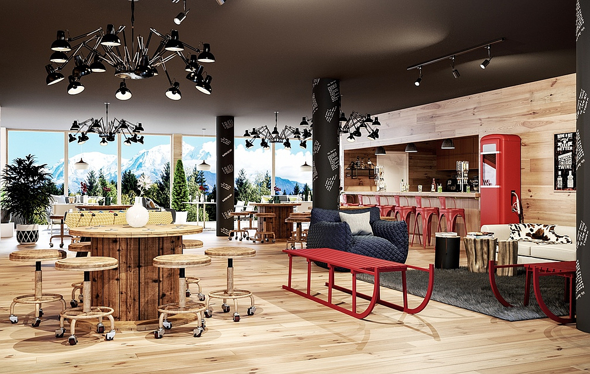The new bar and restaurant