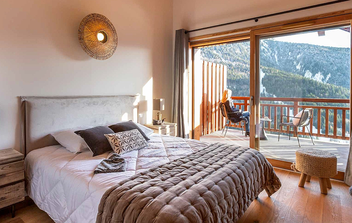 Example Bedroom of apartments for sale in Vaujany