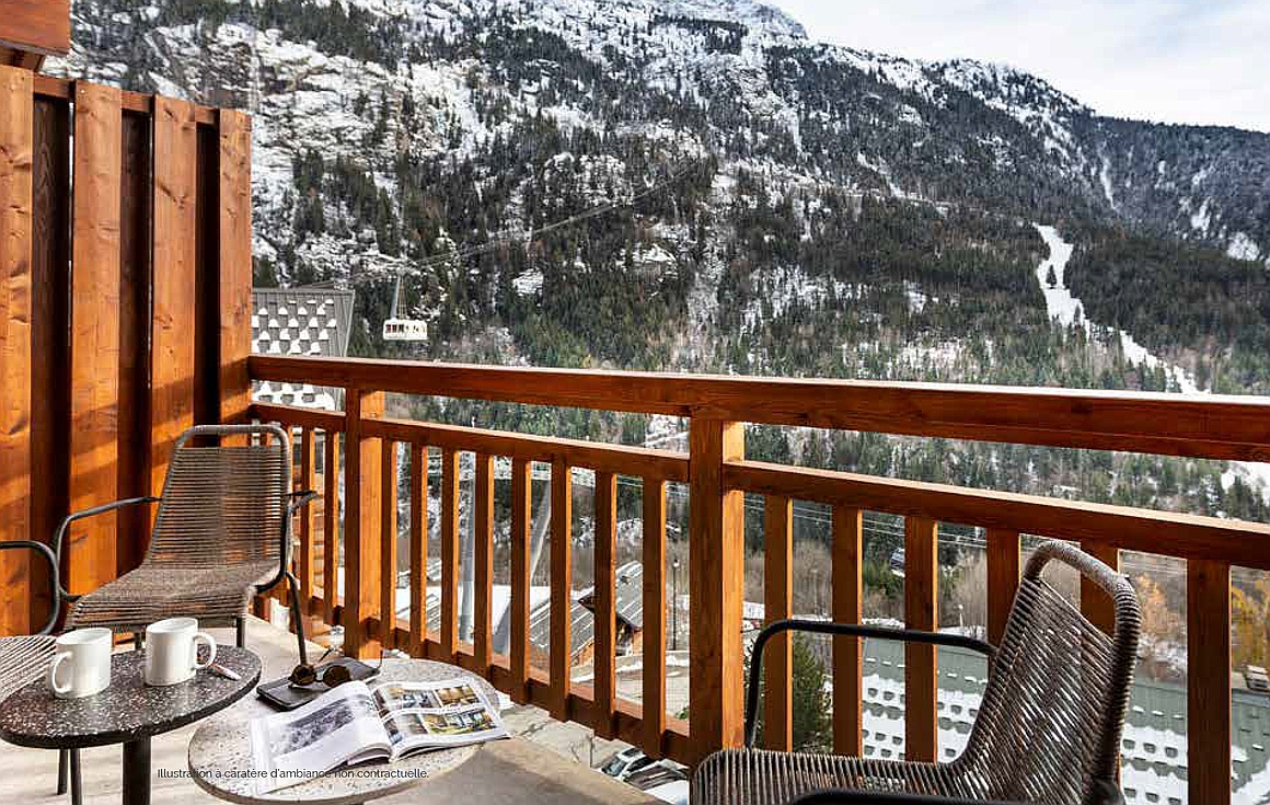 Example balcony showing amazing views in Vaujany
