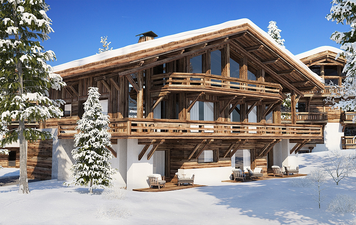 The chalets in the project