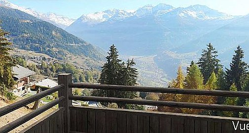 Incredible views from the chalet