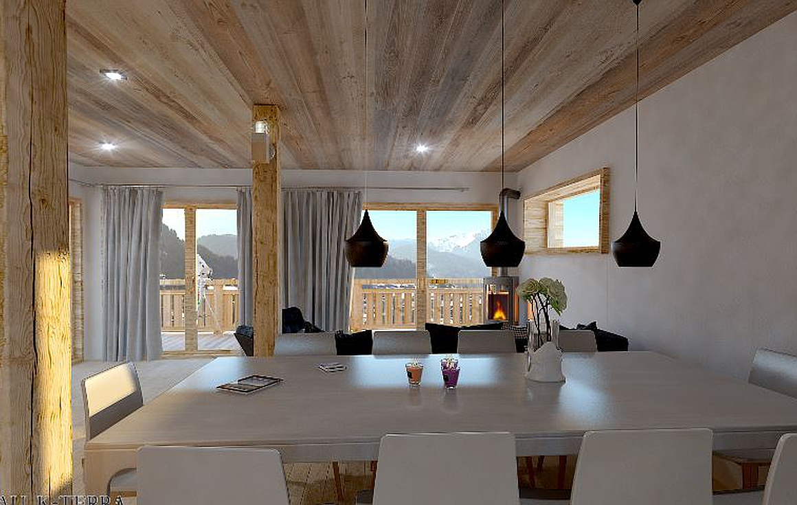 Interiors of chalets