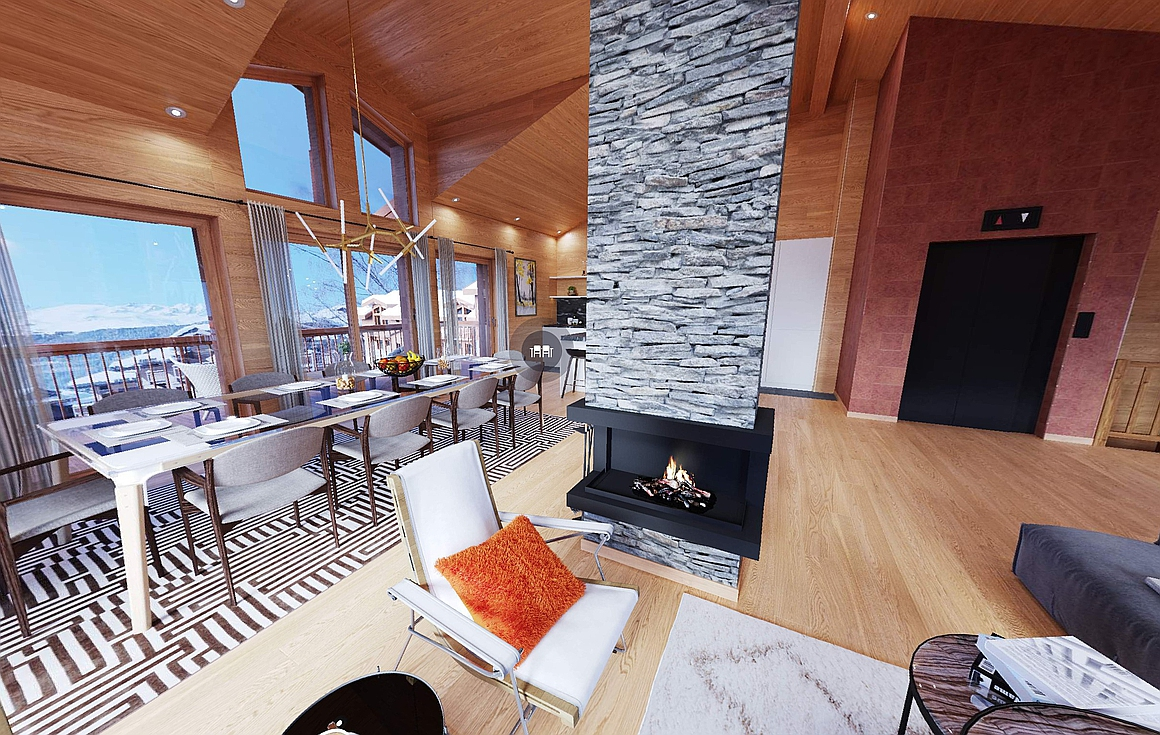 The chalets for sale in Courchevel