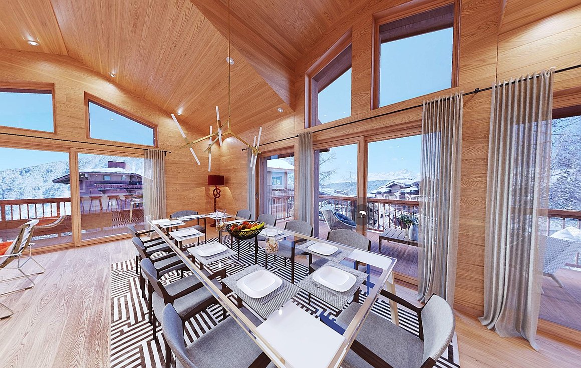 The stunning chalet No 10 in Courchevel