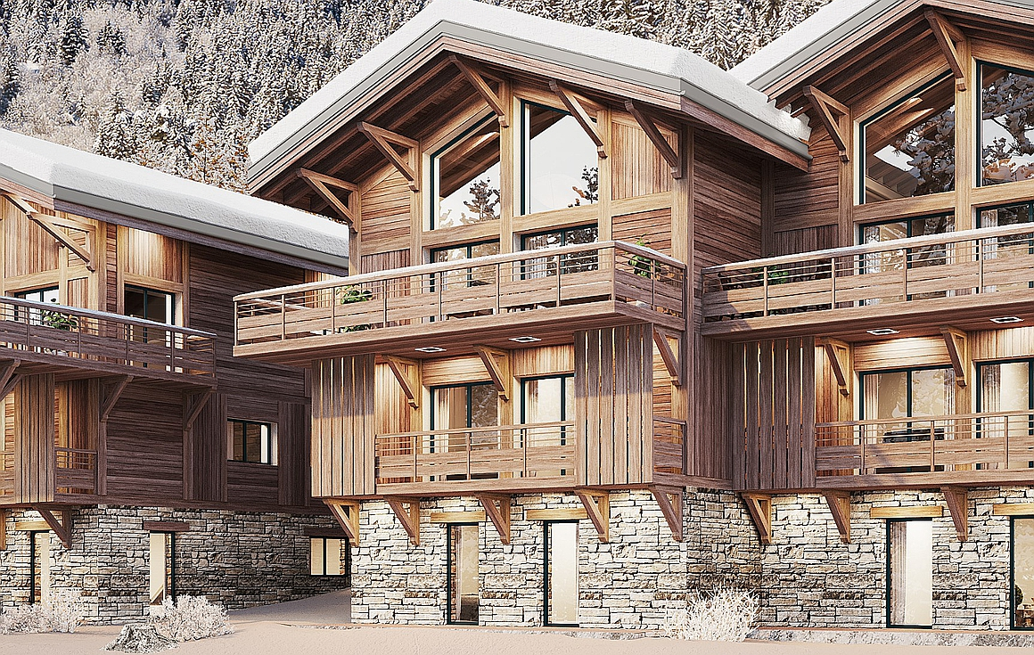 The chalets for sale in Vaujany